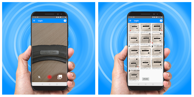 User Interface of Anyline Collector App